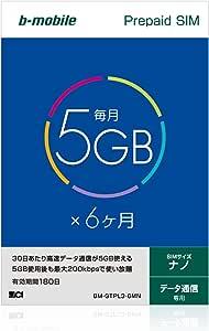 b-mobile 5GB×6ヶ月SIMパッケージ  (ナノSIM) BM-GTPL3-6MN