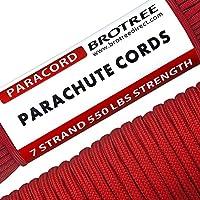 Brotree パラコード 4mm テント ロープ 30m ガイロープ 7芯 ミルスペック 耐荷重250kg 強風対策アウトドア キャンプ サバイバル固定用ひも