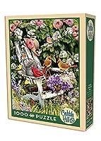 Puzzle 1000 pièces - Oiseaux d'été sur la Chaise de Jardin
