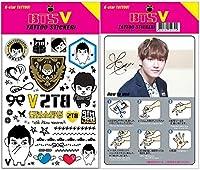 V (防弾少年団 BTS バンタン) K-star タトゥーシール (K-STAR TATTOO STICKER) グッズ