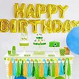 Takefuns 16インチ 誕生日 飾り付け ゴールド 風船 Happy Birthday バルーン 特大 サプライズパーティー キラキラ 子供 友達 装飾 風船 バースデー アルファベット 飾り デコレーション お祝い 1歳 2歳 セット