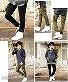 3カラー スキニー カーゴパンツ メンズ ブラック カーキ ベージュ S M L XL ベストマート画像⑩
