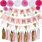 JTIRR happy birthday 誕生日 飾り 装飾 風船 バルーン アルミ おしゃれ アルミ風船 壁 飾り付け 女の子 お祝い に (アルミ風船 *ブルー)