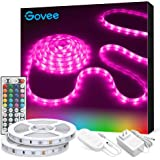 Led Strip Lights, Govee Colored Light Strip Kit with Remote and Control Box for Room, Bedroom, TV, Kitchen, Cupboard, 16.4ft/