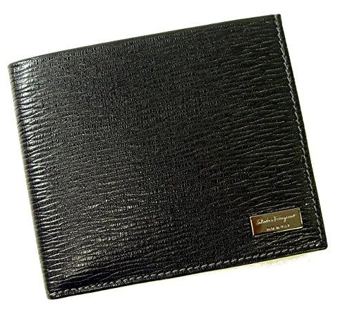 (フェラガモ)Salvatore Ferragamo 財布 ペブルカーフ 二つ折 (ブラック) 667070 SF-620 [並行輸入品]