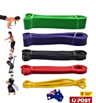 OZSTOCK® Set of 5 Heavy Duty Resistance Band Loop Power Gym Fitness Exercise Yoga Workout
