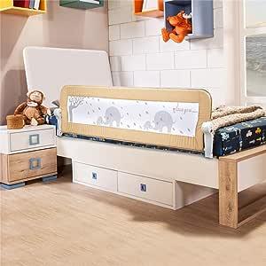 BABYBBZ ベッドフェンス ベットガード 無添加素材 布団ずれ 蹴り出し お子様のベッドからの 転落防止 取り付け簡単 幅150cm ベージュ 1枚セット 子供用 出産お祝い