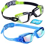 EverSport Swim Goggles, Pack of 2 Swimming Goggles, Swim Glasses No Leaking Anti Fog UV Protection for Adult Men Women...
