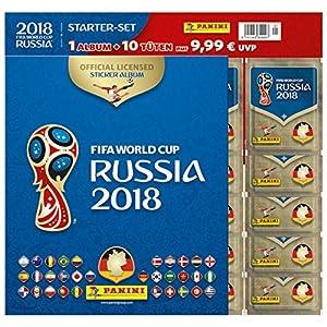FIFA Worldcup Russia 2018 Sticker Starter-Set: Fussball-Weltmeisterschaft Russland 2018. Starter-Set mit Album und 10 Tueten