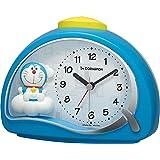 リズム(RHYTHM) 置き時計 ブルー 11.4x15.2x7.5cm 目覚まし時計 アイムドラえもん 電子音アラーム 4SE561DR04