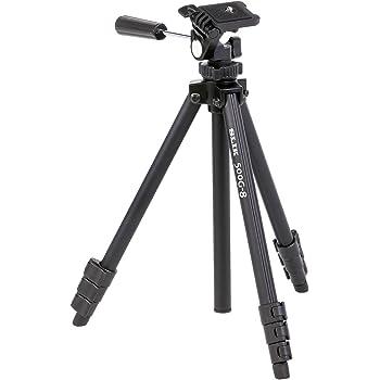 SLIK 三脚 500G-8 4段 レバーロック式 20mmパイプ径 3ウェイ雲台 ブラック 350362