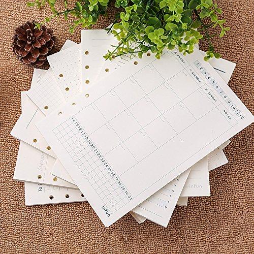 A6標準補充可能高品質な手帳リフィル リフィルノート 100ページ 月計画