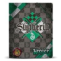 Harry Potter Quidditch Slytherin A4 folder