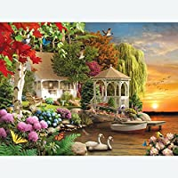 Bits and Pieces - 300 Large Piece Jigsaw Puzzle for Adults - Heaven on Earth - 300 pc Spring Sunset Jigsaw by Artist Alan Giana [Floral] [並行輸入品]