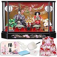 雛人形 ひな人形 久月 ケース飾り 親王飾り 六角ケース B.祝のしめ図 h243-k-4-37-9b