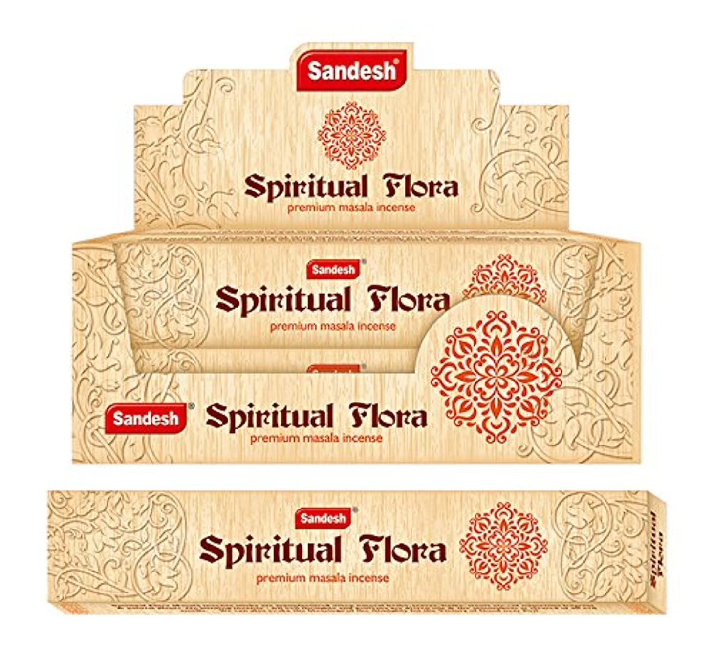 和一貫性のない禁止するSpiritual Flora Incense sticks- 12パックwith Incense Holder
