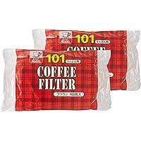 カリタ Kalita コーヒーフィルター ブラウン 1~2人用 NK101濾紙 100枚入り×2個セット