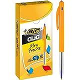 BIC 922627 Clic Fine Retractable Ball Pens Fine Point (0.8 mm)- Blue, Box of 10