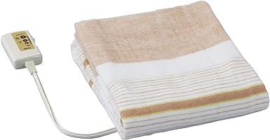 広電(KODEN) 電気敷毛布(130×80cm) オレンジ/ストライプ VWS401-B
