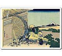 4001 浮世絵マウスパッド 葛飾北斎-隠田の水車