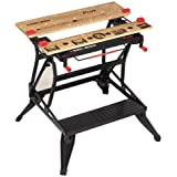 BLACK+DECKER Workmate Plus, Work Bench Tool Stand Saw Horse, Dual Height with Heavy Duty Steel Frame, WM825