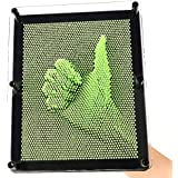 E-FirstFeeling 3D Pin Art Sculpture Extra Large 10 X 8 Pin Impression Hand Mold Board Toy in Green