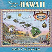 Hawaii 2019 Deluxe Wall Calendar - 2019 CALW - Vintage Maps of Hawaii by Pacifica Collection [並行輸入品]