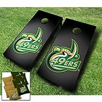 "UNC Charlotte 49ers "" Slanted ""テーマCornhole WrapsボードセットBean Bag Toss + 8ACA Regulation Bags ~ MADE IN THE USA"