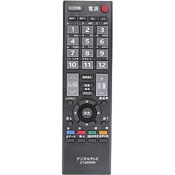 PerFascin CT-90320A リプレイスリモコン Fit For 東芝(TOSHIBA) レグザ REGZA テレビ A1シリーズ A9000シリーズ A8000シリーズ C8000シリーズ C7000 シリーズ A950シリーズ AV550