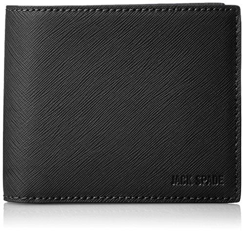 [ジャック・スペード] 折り財布 BARROW LEATHER INTERNATIONAL WALLET 折り財布コインケース付き W6RU0302 001 BLACK