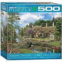 500ピース ジグソーパズル 石畳みの散歩道と小屋 ドミニク・デヴィッドソン
