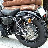 デグナー(DEGNER) スライドレール一体型 サドルバッグサポート ハーレー バイク スポーツスター 専用 04年~16年 左側 クローム SBS-1 CR