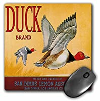 3drose LLC 8x 8x 0.25インチマウスパッド、DuckブランドSan DimasレモンAssociation Two Ducks Flying ( MP _ 171143_ 1)