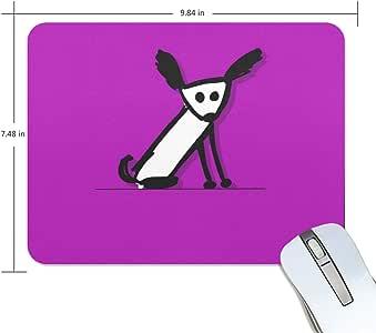 ユキオ(UKIO) マウスパッド おしゃれ 防水 滑り止め かわいい 使いやすい 北欧 ワンちゃん 紫色背景 女性 リストレスト マウス PCアクセサリ 男性
