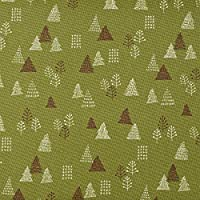 コスモテキスタイル 綿キャンバス生地 ノルディック パターン 全3種 50cm単位販売 布 (ツリー)