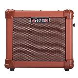 AROMA アコースティックギターアンプ 10w エレアコ USB TFCard 音楽再生 Micエコー効果 録音機能 充電バッテリー アダプター駆動