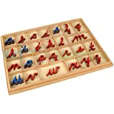 Kid Advance Montessori Cursive Moveable Alphabets with Box