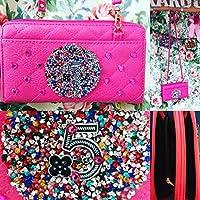 ポシェット 財布 ピンク 収納たっぷり バッグ財布 キラキラ スワロフスキー ハート デコ