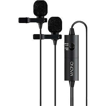 MAONO ミニクリップマイク ピンマイク コンデンサーマイク 全指向性 高性能 デジタル一眼レフカメラ/ビデオカメラ/ オーディオレコーダー/PC/スマホなど用(iPhone/iPad/Android)3.5mm/5mm対応ミニプラグ (AU-200)