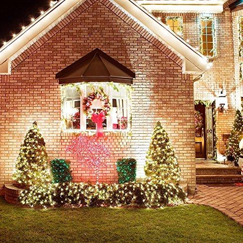 LED ジュエリーライト , Sungluber ライト 中庭 屋外ガーデンホームズ クリスマスツリー飾り イルミネーション 防水ライト LED ワイヤーライト 飾り/ 電飾 / クリスマスライトイベント装飾品 100球 LEDライト (暖かい白)