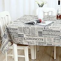 LWT テーブルクロスヨーロッパスタイルレトロ多目的テーブルクロス綿の新聞パターンの家族のダイニングテーブルテレビカウンターティーテーブルカバークロス (Color : A, Size : 140*180cm/55.1*70.9in)