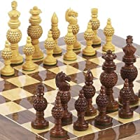 Monaco Deluxe Chessmen & Columbus Avenue Chess Board from Spain by
