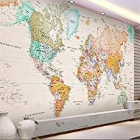 Wapel Beibehang 3 d 壁紙カスタムの壁画の 3 次元の部屋の壁 3 のマップの世界の写真の壁紙の壁紙のエレガントなライトカラーバージョン d 絹の布 200x140CM