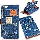 本格デニム iPhone6 PLUS / iPhone6s PLUS 兼用 手帳型アイフォンケース