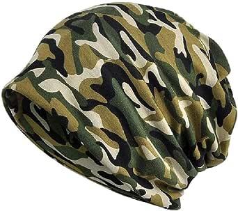 KISSTYLE 帽子 メンズ レディース ニット帽 薄手 オールシーズン 迷彩 カモフラ