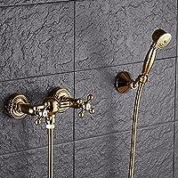 wAWzjバスルームシャワーセットシャワーSprinkler with Goldenシャワーとシャワーセット 9404896546061