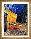 ★ゴッホ「夜のカフェテラス」限定オリジナルアート額  高画質 アートプリント Aゴールド額装 60×48cm