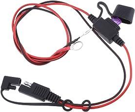 Baosity バッテリ入札SAE DCアダプタコード 18AWG SAE ハーネス 延長ケーブル 電池  タンダー DIY コネクタ 10A ヒューズ