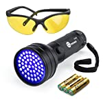 TaoTronics Black Light, 51 LEDs UV Blacklight Flashlights, Free UV Sunglasses and 3 Batteries Included, Detector for Dry...