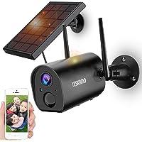 【最新充電池式・完全無線】 YESKAMO 防犯カメラ ソーラー 屋外 WiFi 1080P 15000mAh 電池式…